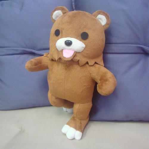 pedobear  plush toy 100% Handmade Plush Toy Cosplay Props