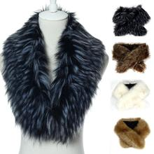 2015 Amazing Winter Faux fox fur collar scarf shawl collar women's Wrap Stole Scarves Free Shipping(China (Mainland))