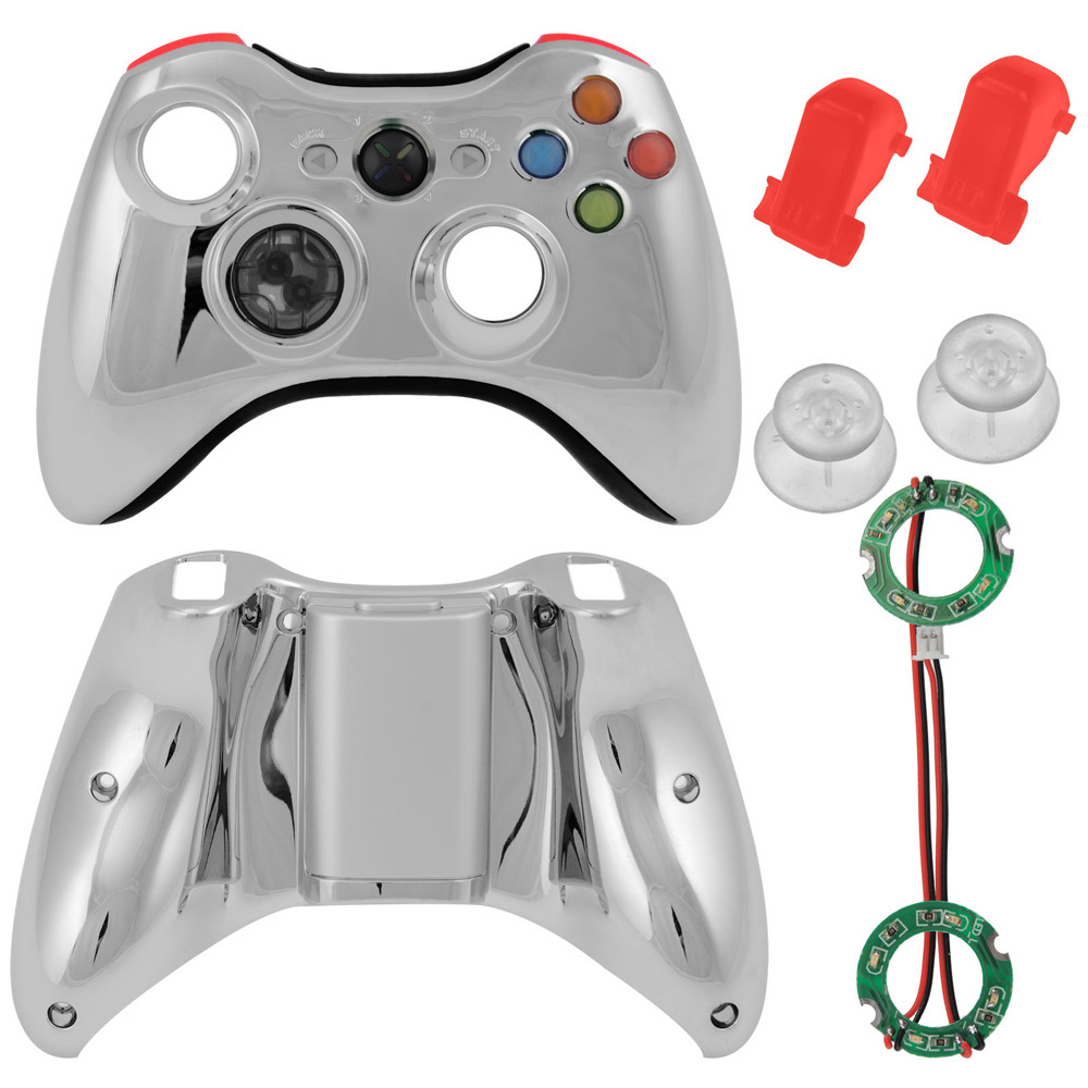 XCM Supreme Wireless Controller Shell Full Housing Custom Replacement Red LED Light Auto Fire for XBox 360(China (Mainland))