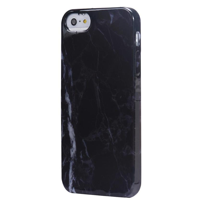 Good sale Marble Texture Print Cover Case Skin For iPhone SE Free shipping Apr 7(China (Mainland))