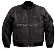 New Arrive Men's Motorcycle Really Leather Jacket  Man Leather Jacket 97137-13VM(China (Mainland))
