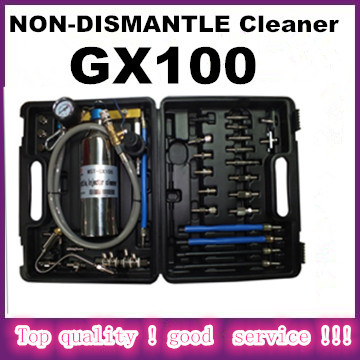 DHL Free shipping NON-DISMANTLE Cleaner GX100 for auto Fuel Injector and Cleaner Machine with best quality(China (Mainland))