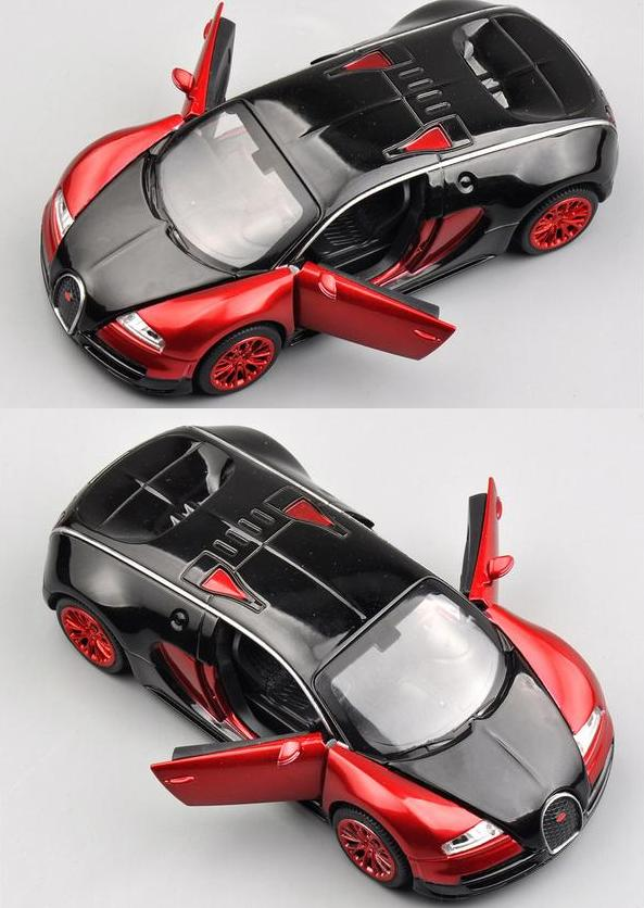 1:32 Scale Bugatti Veyron Alloy Diecast Car Model Pull Back Toy Cars Electronic Car with light&sound Kids Toys Gifts(China (Mainland))