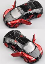 Масштабе 1:32 Bugatti Veyron Сплава Литья Под Давлением Модель Автомобиля Вытяните Назад Игрушечных Автомобилей Автоэлектроника с свет и звук Детские Игрушки подарки