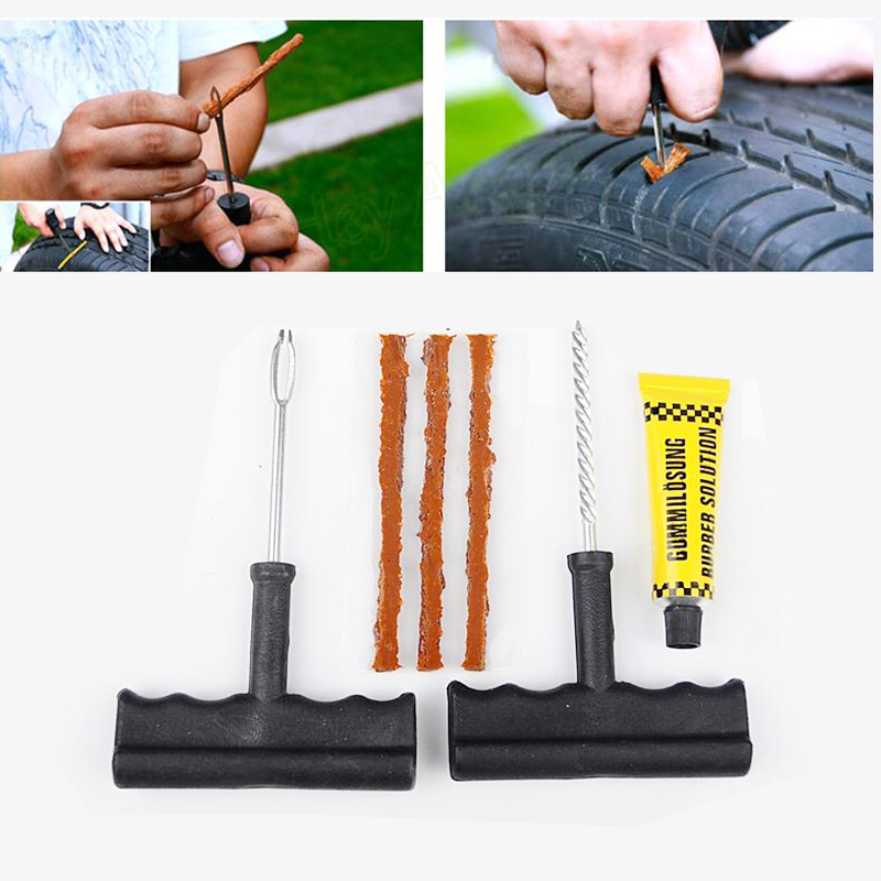1 Set Auto Car Tire Repair Kit Car Bike Auto Tubeless Tire Tyre Puncture Plug Repair Tool Kit Diagnostic-tool Car Accessories(China (Mainland))