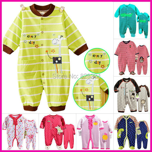 Baby Clothes, Long Sleeve Cotton Rompers, Boy Girl Jumpsuit, Infant Overalls, Newborn Clothing, Bebe Pajamas - B&B Kids Fashion Market store