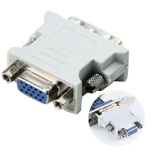 DVI-I Dual Link24+5 Male HD 15 Pin VGA SVGA Female Video Card Monitor LCD Converter Adapter 88 - Great Deals store