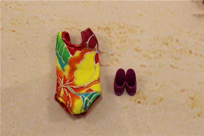 5 Sets Handmade Swimwear Beach Bikini Bathing Swimsuits Outfits for Barbie Dolls Random Shipping