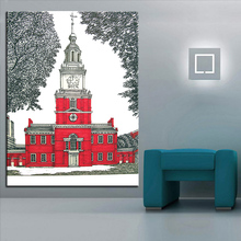 Large size Printing Oil Painting Philadelphia PA Wall painting Home Decor Art Picture Living Room Frame - FineArt Store store