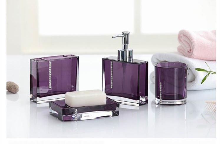 achetez en gros accessoires de bain violet en ligne des grossistes accessoires de bain violet. Black Bedroom Furniture Sets. Home Design Ideas