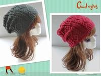 Женская шапка Winter knitted caps for women and men HT180164 Beanie Skullies Inverno Gorros XQQN001