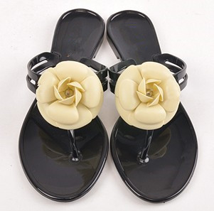 hot sales woman Fashion Camellia slippers summer flip flops shoes pinch flat jelly shoes female sandals women summer shoes 36-40