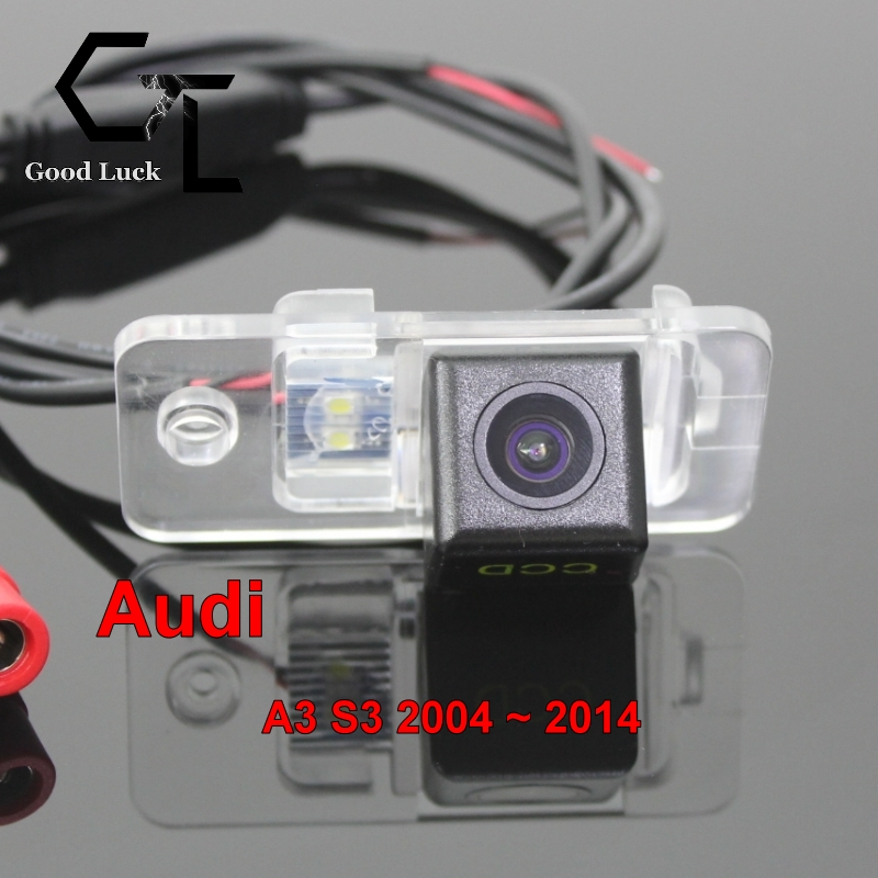 For Audi A3 S3 2004 ~ 2014 wireless Car Auto Reverse Backup CCD HD Night Vision Rear View Camera(China (Mainland))
