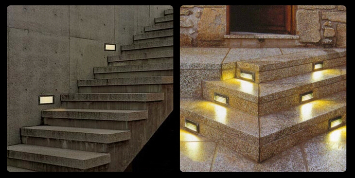 2pcs lot Outdoor 3W LED Stairs Recessed Wall Light LED