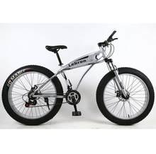"""Высокое качество 7/21/24/27 скорость 26 дюймов жира велосипед стальная рама амортизационная вилка для велосипеда 4,0 """"большой широкий угол обзора ...(China)"""