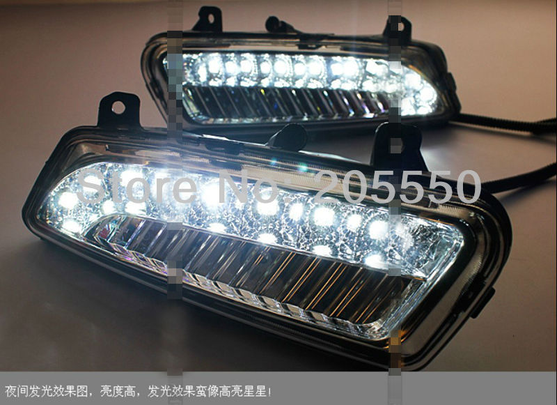 Фотография Excellent Car-Specific LED DRL Daytime Running Light fit for Volkswagen VW Polo 2011-2013 2pcs per set