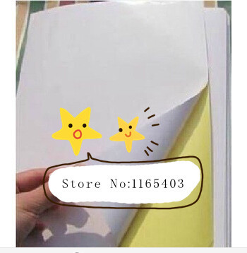 Free shipping manufacturers wholesale price low A4 blank coated paper sticker label can use laser printing/inkjet printer(China (Mainland))
