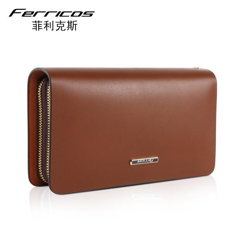 Здесь можно купить   100% Genuine Leather Men Business Solid Wallets Long Wallets Designer Clutch Famous Brand Handbag Purse   Камера и Сумки