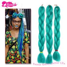 New Arrival Blue Kanekalon Braiding Hair 1 pc/Lot Cheap Crochet Hair Extensions Braid 24 Inch Toyokalon Braiding Hair Discount(China (Mainland))