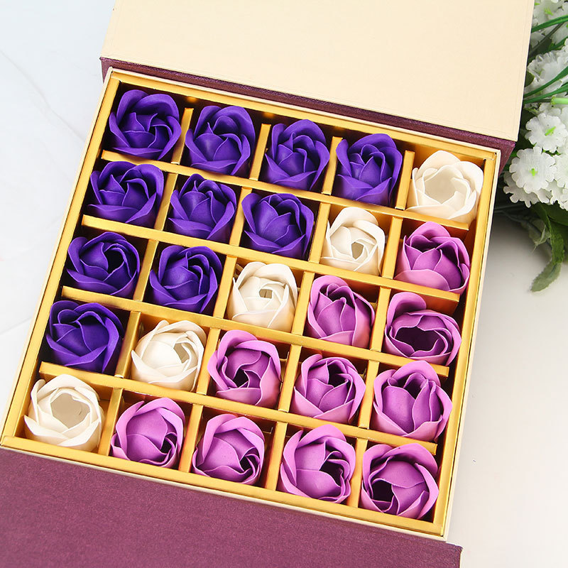 25pic/box Soap Roses /Soap Flower For Personalized Wedding Favors and Gifts(China (Mainland))