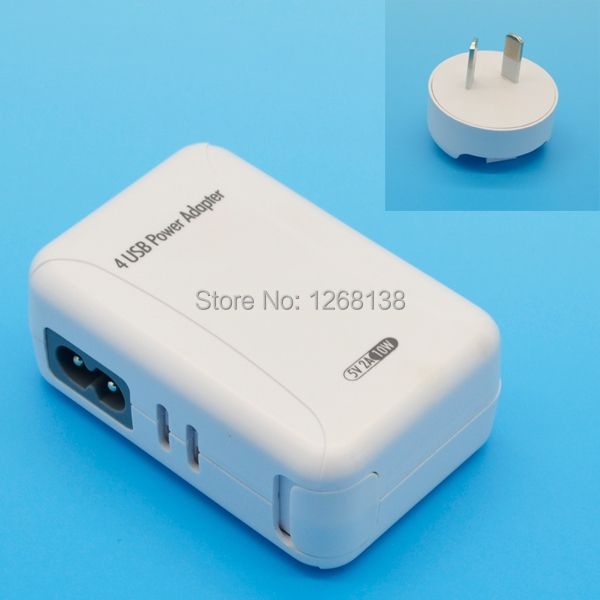 AU Plug White USB Power Adapter & Wall Charger Replacement Universal 5V 2A for Samsung iPhone 4 5 Apple iPad Mobile Phone NuVN(China (Mainland))