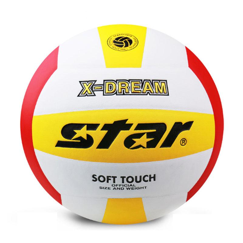 Star Official Size 5 Volleyball Ball Soft Superfine Fiber Volleyball Training Ball Voleibol Ballon Beach Volleyball(China (Mainland))