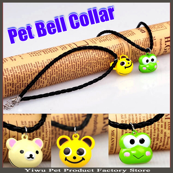 Large Pet Dog Bell Collar Necklace 20pcs/lot Various Designs Copper Bell Decorated Neck Strap Lanyard Grooming Accessories(China (Mainland))