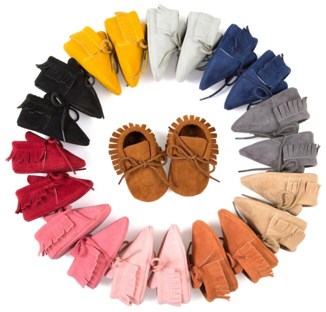Styles Matte Texture Baby Soft boots Tassel Fringe Moccasin Shoes Mocs baby shoes many colors choose - Babycare store