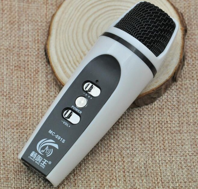 Mobile Phone K Song Mini Microphone Portable Recording Microphones Mobile Phone KTV For IOS Android Built-in battery Mic(China (Mainland))