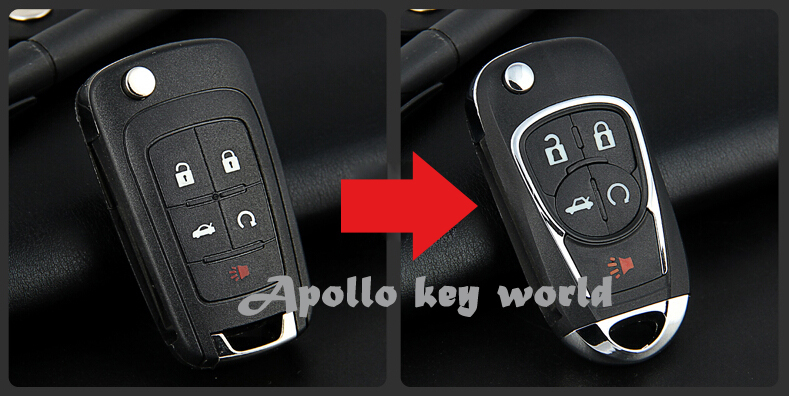 Modified Flip Folding Remote Key Shell Case 5 Button For New Buick LaCrosse Keyless Entry Fob Key Cover(China (Mainland))