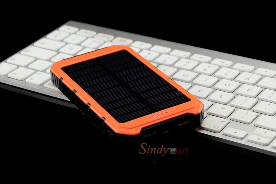 7sindy solar charger usb power bank