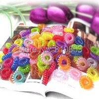 200pcs/lot Free Shipping Lovely candy color phone Elastic Hair bands,Headwear Accessories Wholesale Lc-01-275