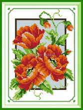 Цветок кукурузы мака (5) декор живопись счетный напечатаны на холсте DMC 11CT 14CT комплекты вышивки крестом вышивка рукоделие комплект