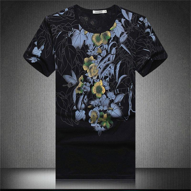 men t shirt 2016 summer new men's hiphop printing round neck short sleeve T-shirt Chinese style mens hemp shirts - LiXia Yu store