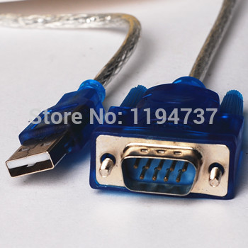 Free Shipping !!! USB to RS232 COM Port Serial PDA 9Pin DB9 Cable Adapter(China (Mainland))