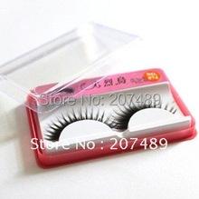 Wholesale individual Natural Long Thick False fake artificial Eyelashes Makeup beauty accessory hand-made good quality whcn(China (Mainland))