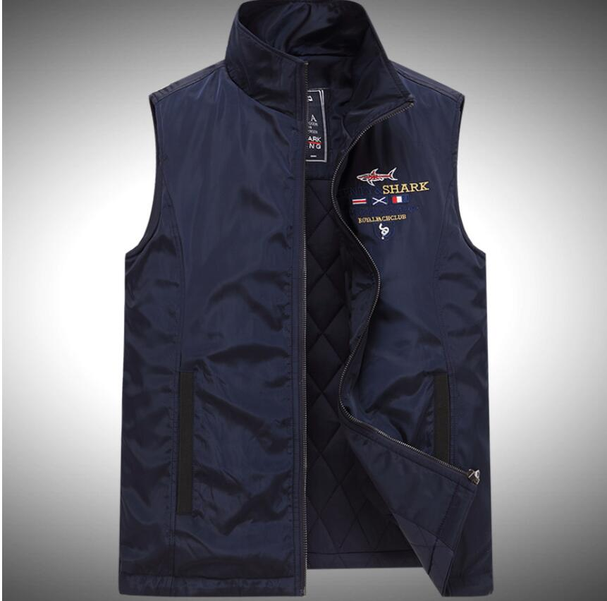 Hot selling new arrival man slim vest 2016 spring and fall jacket Casual shark jackets men(China (Mainland))