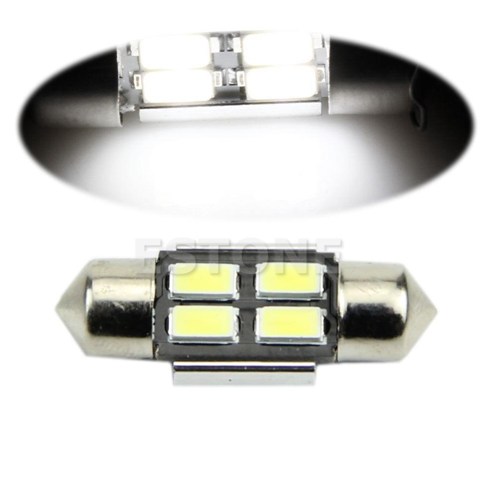 12V 31mm White 5630 SMD 4-LED Car internal Festoon Dome Light Bulb Map Lamp<br><br>Aliexpress