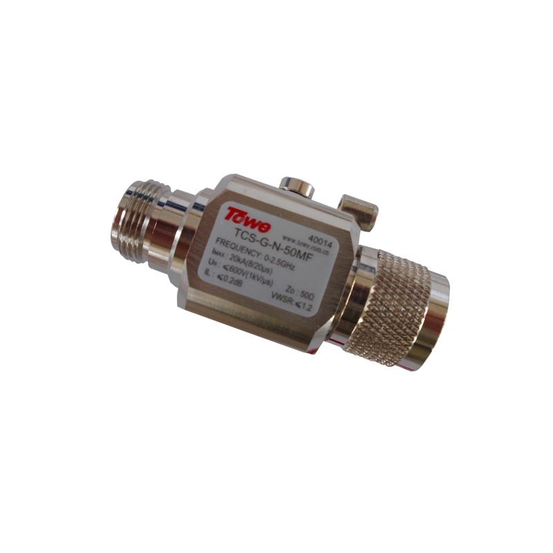 TOWE TCS-G-N-50MF 0-2.5G, 50 ohm, BNC, both ends of the MF, rated voltage 90 & 230V, Imax: 20KA surge protector for antenna TV
