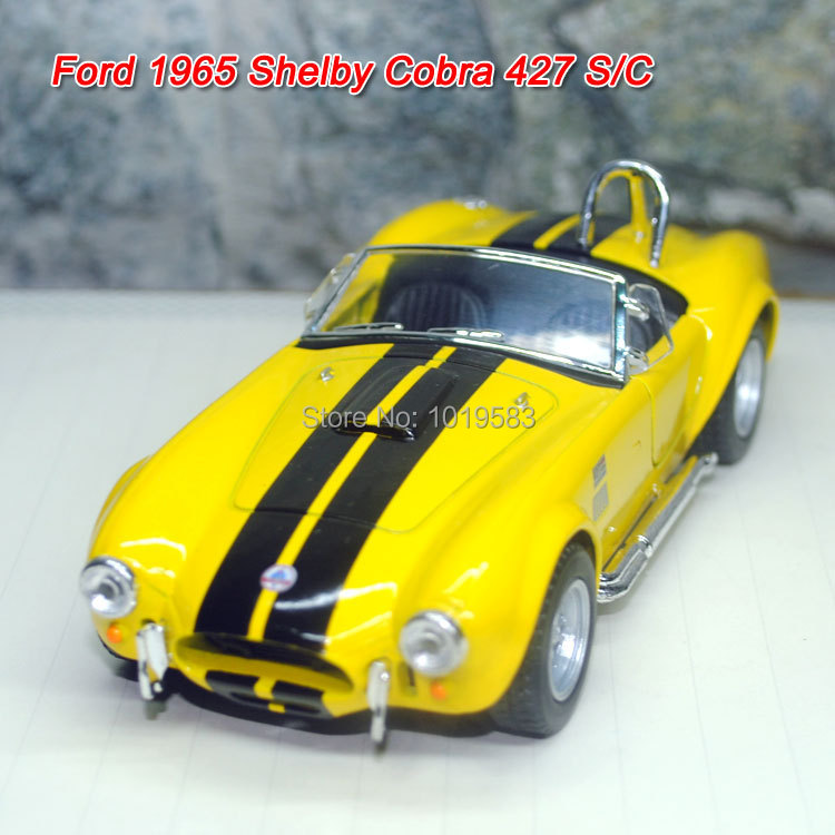 (5pcs/pack) Free Shipping Wholesale 1/32 Scale Pull Back Car Toys Ford 1965 Shelby Cobra 427 S/C Diecast Metal Car Model Toy(China (Mainland))