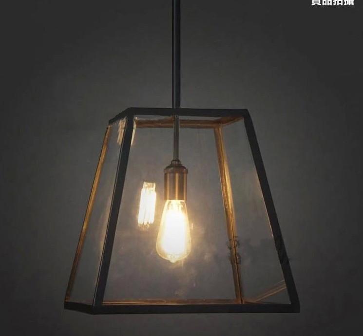 Hot Sale Antique Black Iron Pendant Light E27 Bulbs Iron