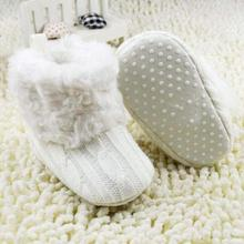 2015 Winter Children Newborn Baby Boots Crochet Knit Fleece Toddler Girl Wool Snow Crib Shoes Bootie free shipping(China (Mainland))