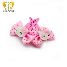 10price/lot 2016 korean cute hello kitty hair clip bowknot girls hair accessories hairpin