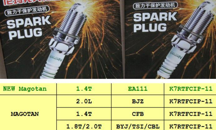 Replacement Parts Platinum iridium spark plugs for vw magotan CBL BJZ CFB BYJ TSI EA111 engine