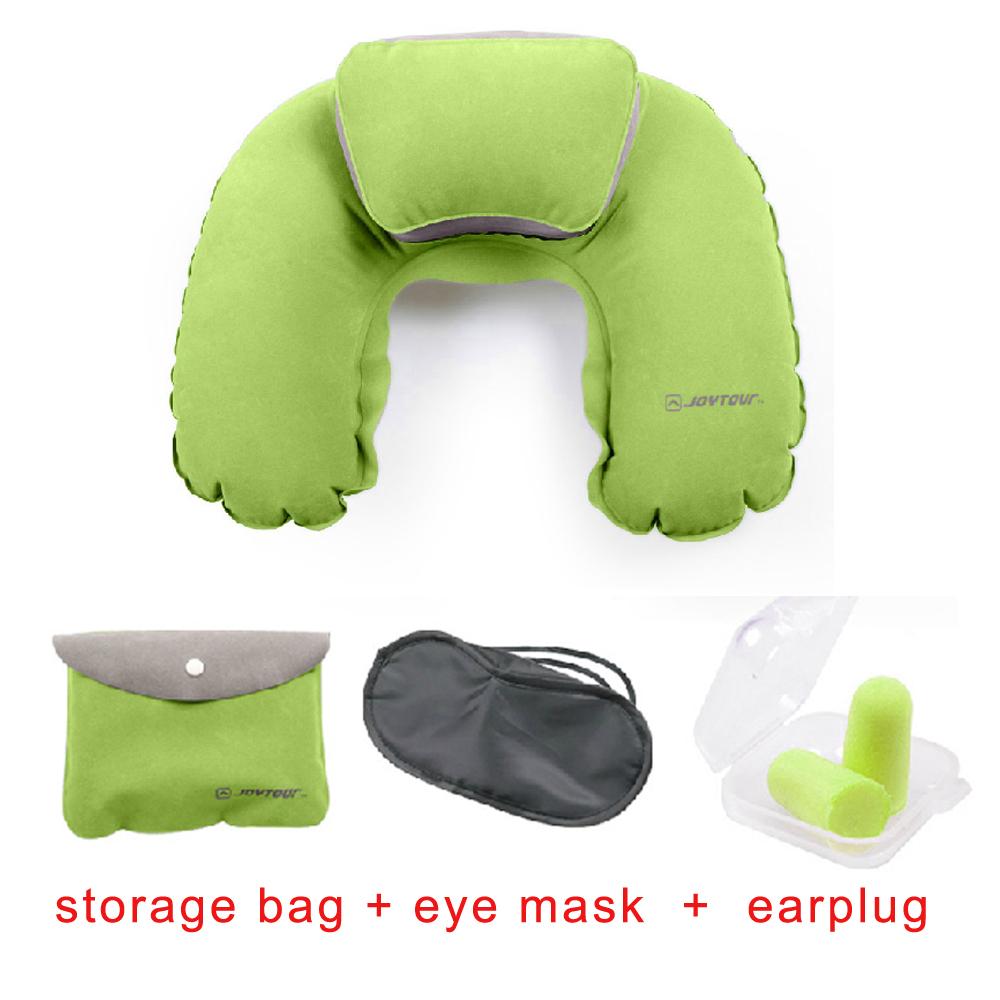Pillows Inflatable New Travel Car Camping Office Home Plane Memory Foam U Shaped Pillowcase Massage Pump Cushion Neck Pillow(China (Mainland))