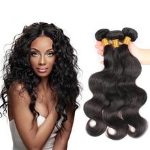 Rosa Hair Products Brazilian Virgin Hair Extensions Body Wave Unprocessed Brazilian Human Hair Weave 3 Bundles Natural Black(China (Mainland))