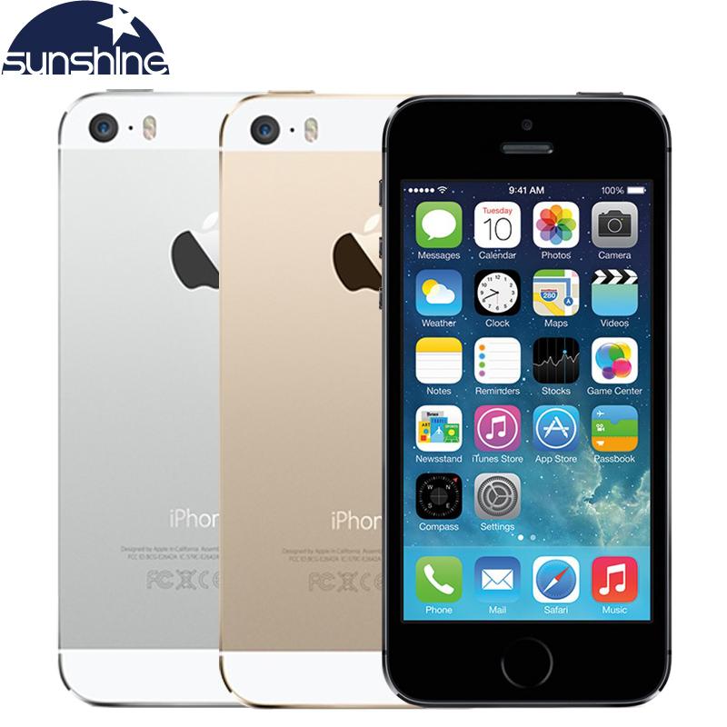 "Apple iPhone 5S Original Cell Phones Dual Core 4"" IPS Used Phone 8MP 1080P Smartphone GPS IOS iPhone5s Unlocked Mobile Phone(China (Mainland))"