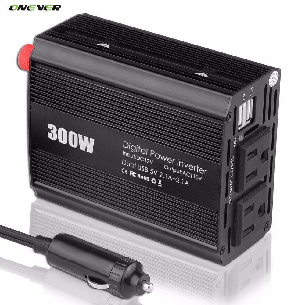 600W Peak Power Inverter 300W Pure Sine Wave Inverter 12V to 110V 60HZ AC Pure Sine Wave Power Inverter Car Voltage Converter(China (Mainland))