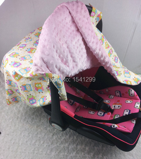 best soft baby car seat canopy infant carseat cover warm in winter cool in summer owls pink. Black Bedroom Furniture Sets. Home Design Ideas