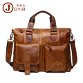 JOYIR Men Genuine Leather Bags Handbag Top Quality Messenger Briefcase Laptop Shoulder Bag Large Real Leather